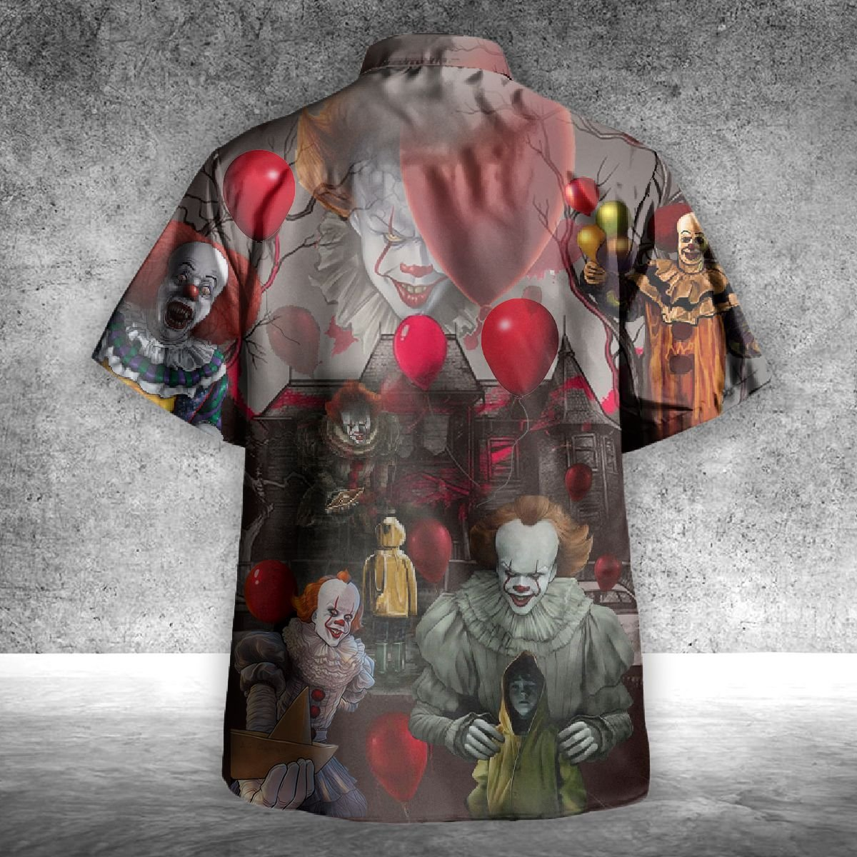 IT Pennywise You'll float too hawaiian shirt - Picture 2