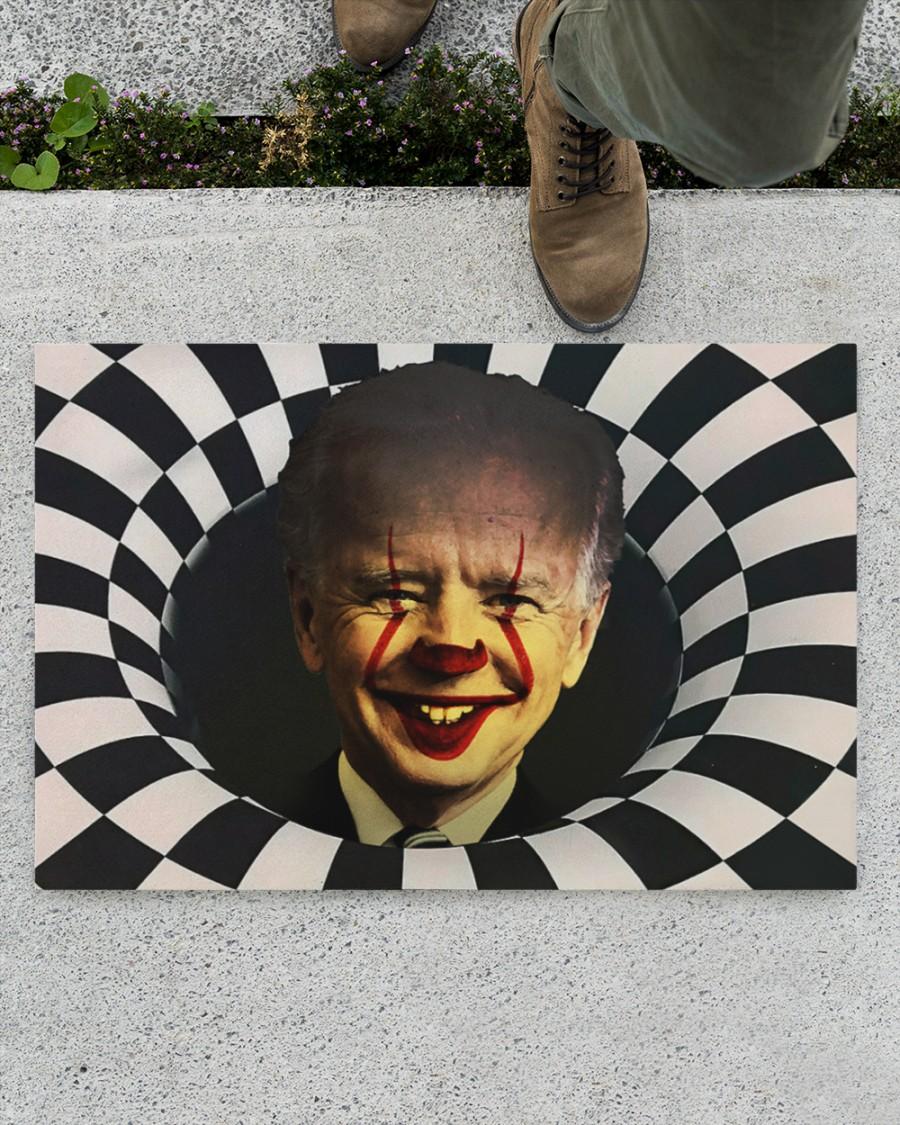 IT clown Biden 3d illusion doormat