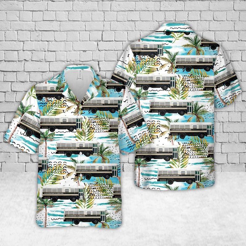 Illinois Department of Corrections Prison Bus Hawaiian Shirt – Hothot 010921