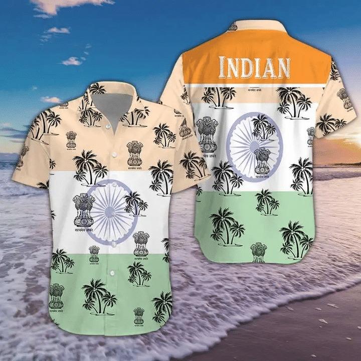India Tropical Short Sleeve Hawaiian Shirt