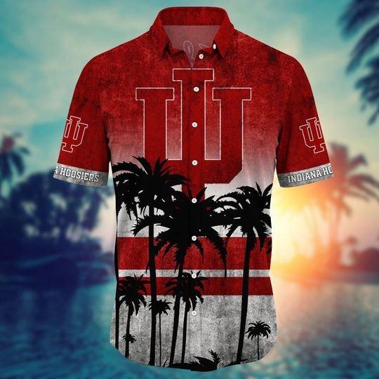 Indiana Hoosiers Summer Hawaiian Shirt, short -BBS