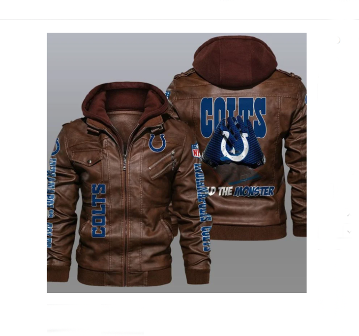 Indianapolis Colts Build The Monster Leather Jacket - LIMITED EDITION