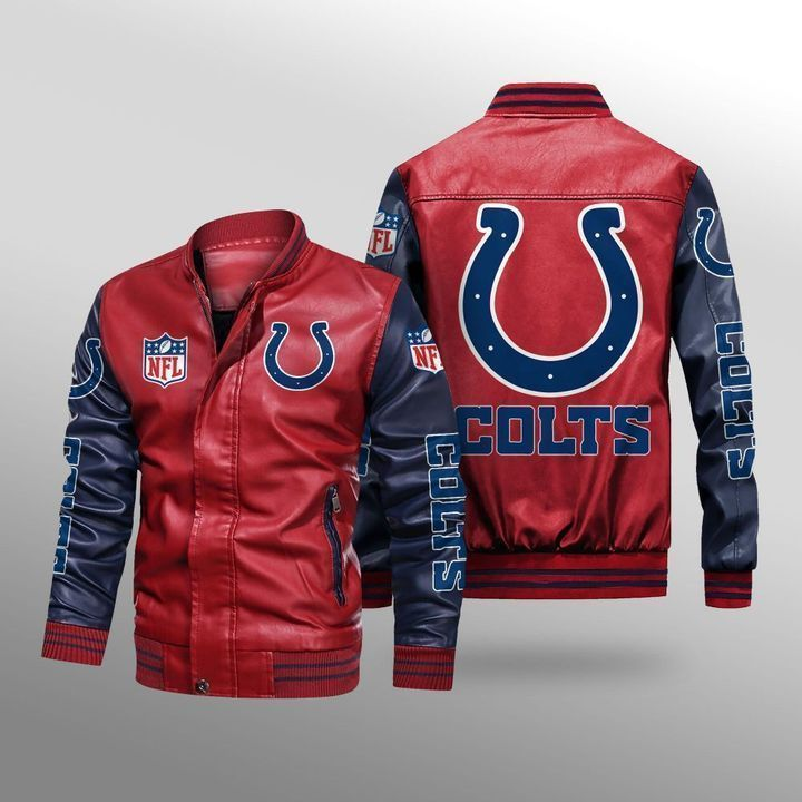 Indianapolis Colts Leather Bomber Jacket - LIMITED EDITION