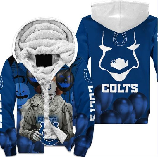 Indianapolis colts pennywise the dancing clown it halloween 3d all over print hoodie3