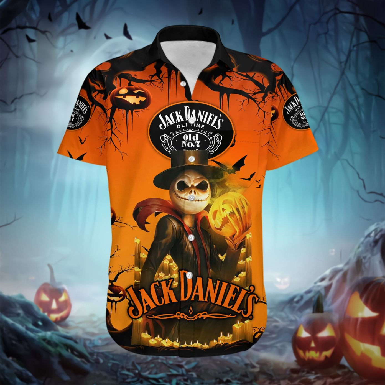 Jack Daniels Jack Skellington halloween Hawaiian shirt - LIMITED EDITION