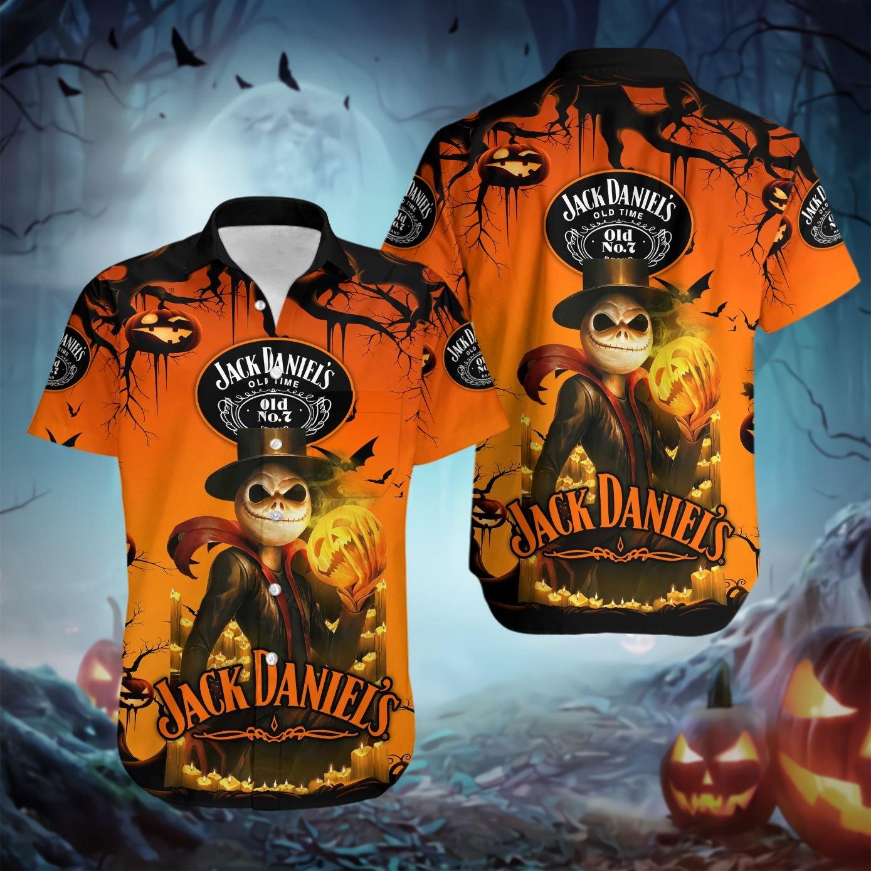 Jack Skellington Daniel's Haloween pumpkin Hawaiian shirt - LIMITED EDITION