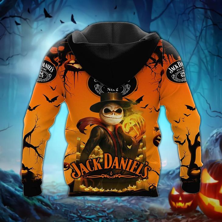 Jack Skellington Jack Daniels Halloween 3d Hoodie - LIMITED EDITION