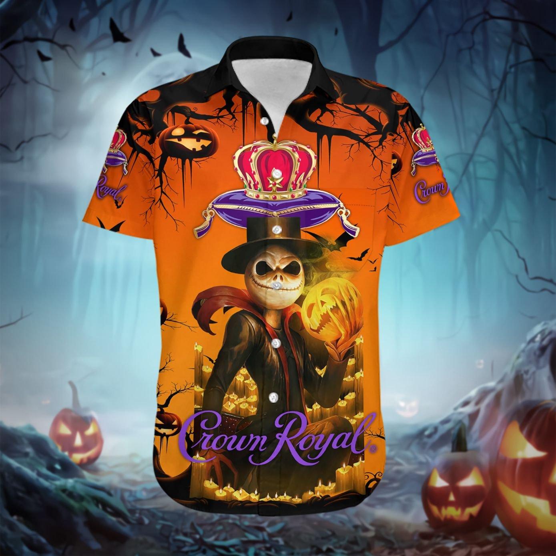 Jack Skellington Skull Crown Royal Hawaiian shirt - LIMITED EDITION