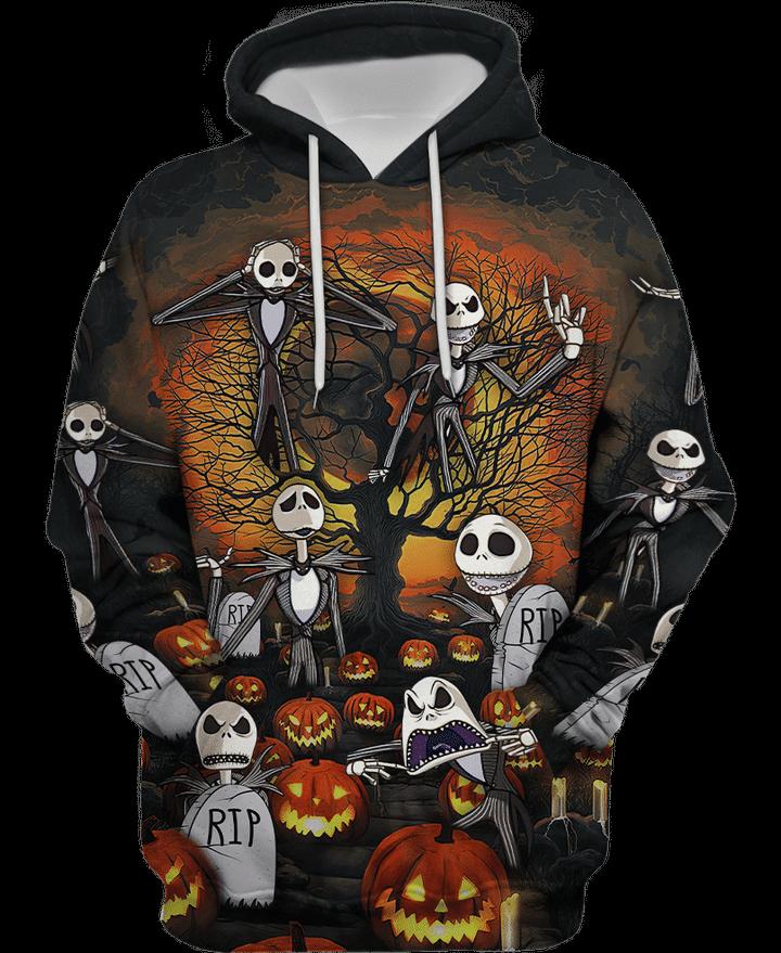 Jack skelington halloween 3d hoodie