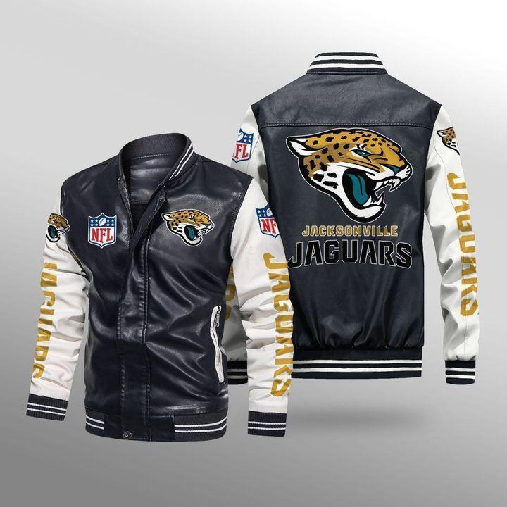 Jacksonville Jaguars Leather Bomber Jacket - LIMITED EDITION