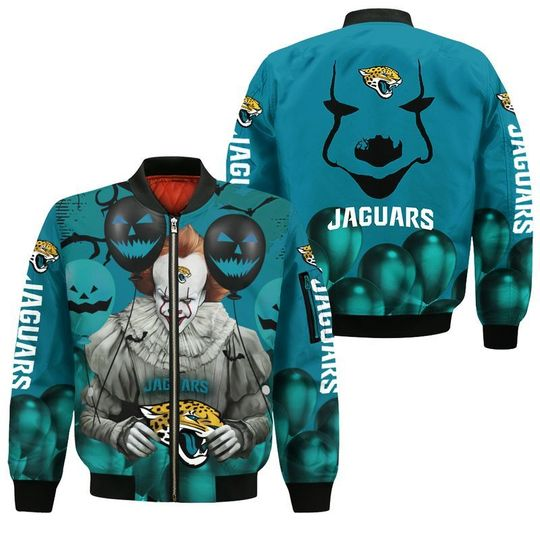 Jacksonville jaguars pennywise the dancing clown it halloween 3d all over print hoodie - LIMITED EDITION