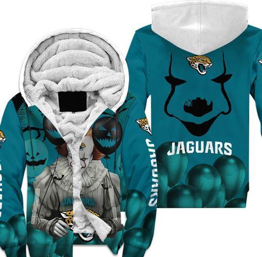 Jacksonville jaguars pennywise the dancing clown it halloween 3d all over print hoodie4