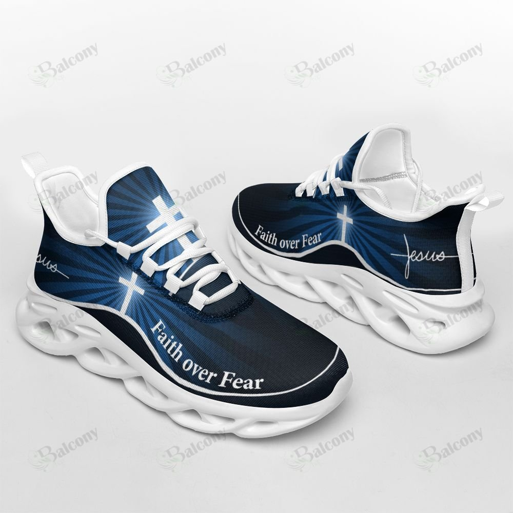 Jesus Faith Over Fear Max Soul Clunky Shoes - LIMITED EDITION
