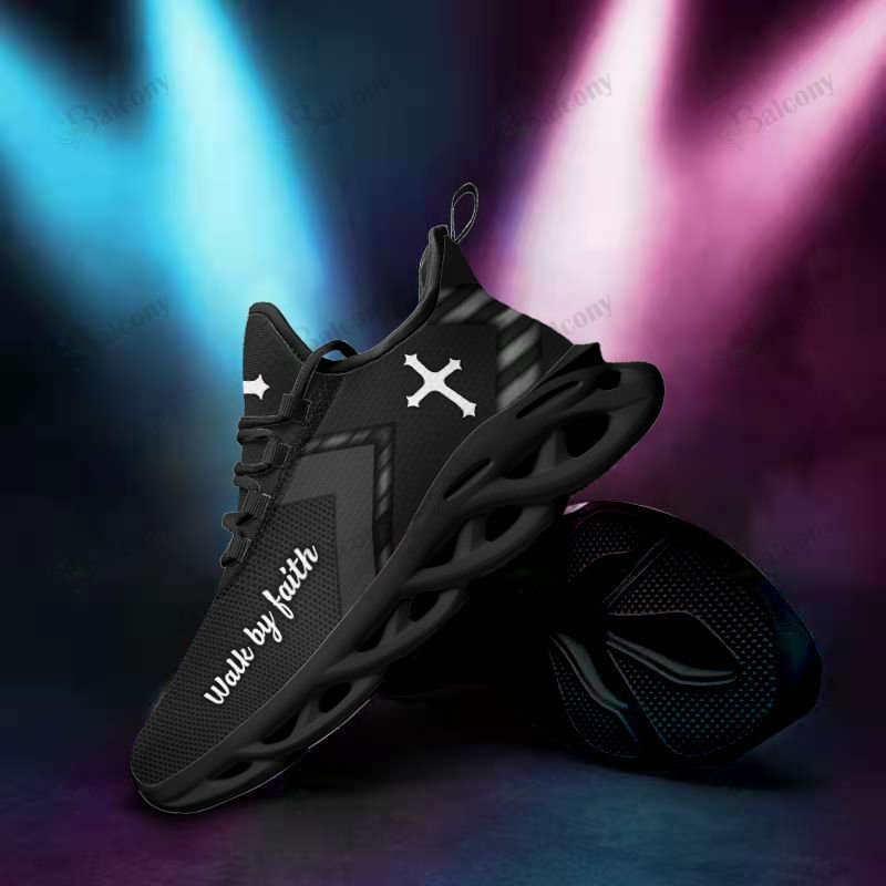 Jesus Yeezy Walk by faith clunky max soul shoes - LIMITED EDITION