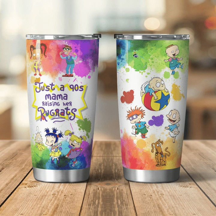Just a 90s mama raising her rugrats tumbler cup - Hothot 010921