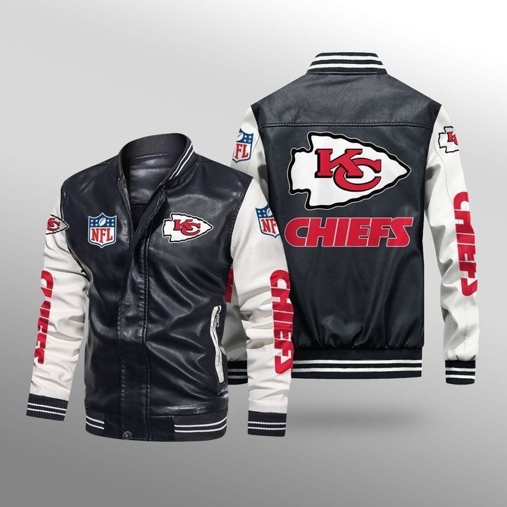 Kansas City Chiefs Leather Bomber Jacket - LIMITED EDITION