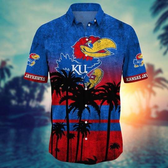 Kansas Jayhawks Summer Hawaiian Shirt, short -BBS