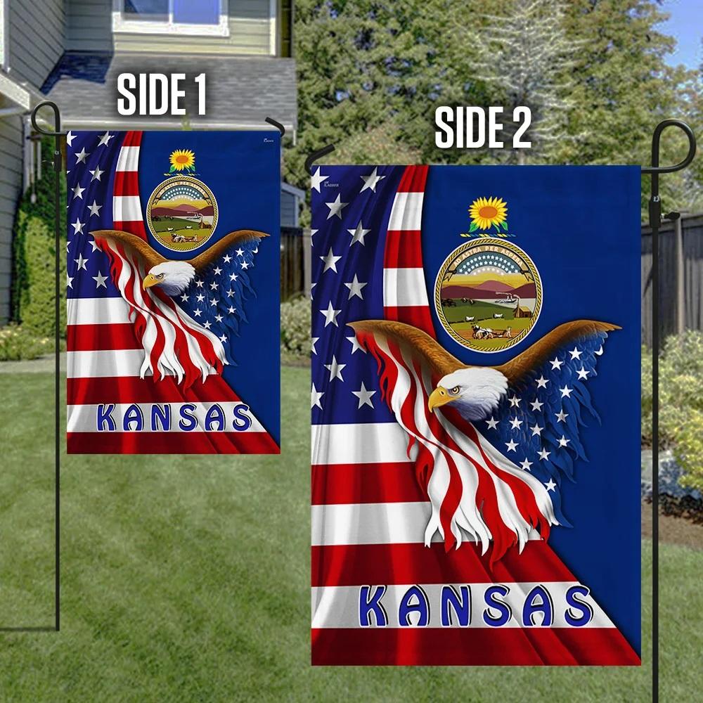 Kansas eagle flag - Picture 1