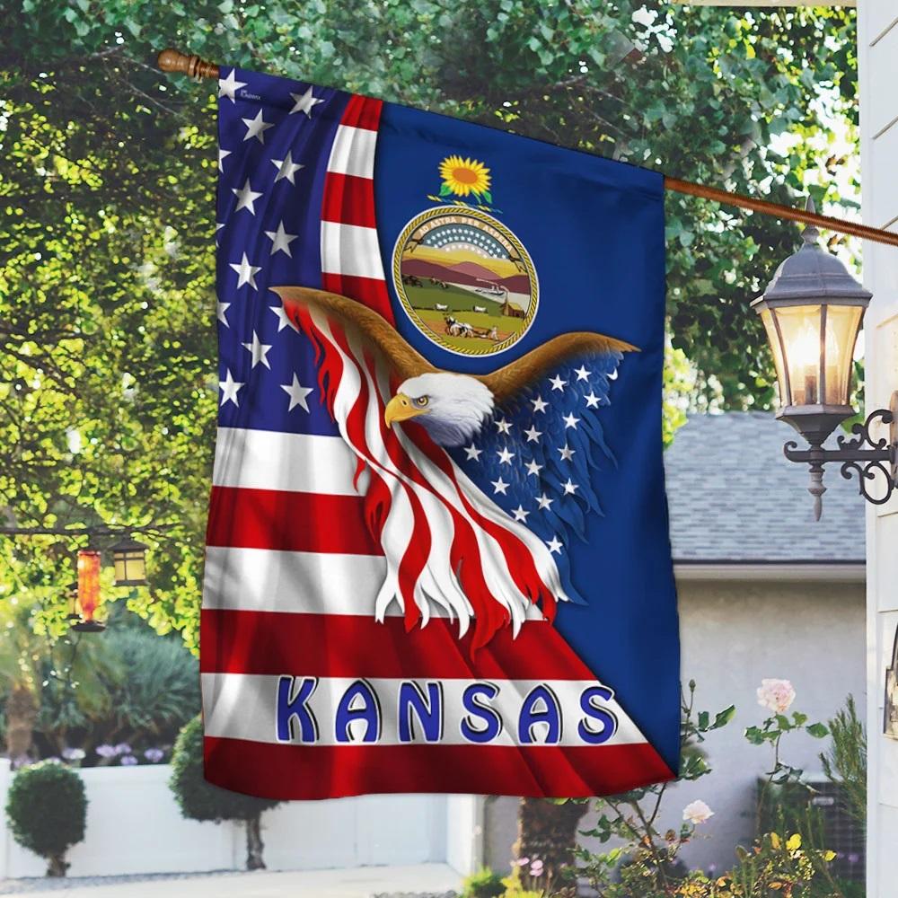Kansas eagle flag - Picture 2