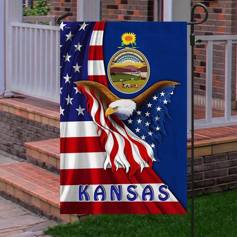 Kansas eagle flag - Picture 3