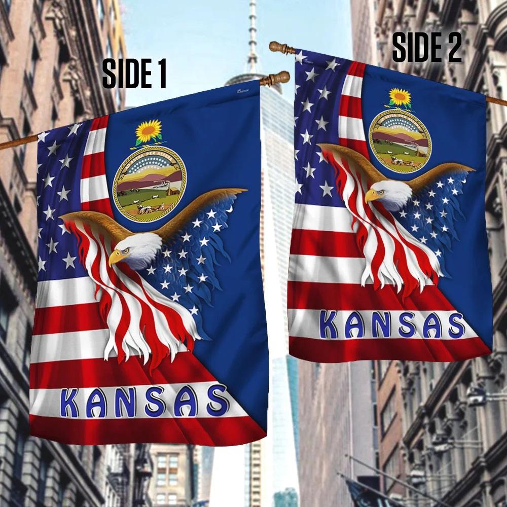 Kansas eagle flag