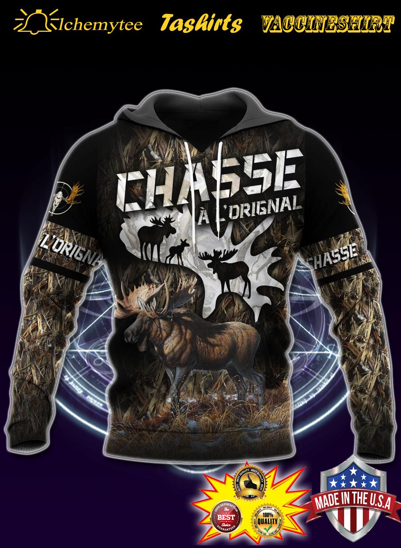 Moose hunting chasse a loriginal 3d shirt la chemise