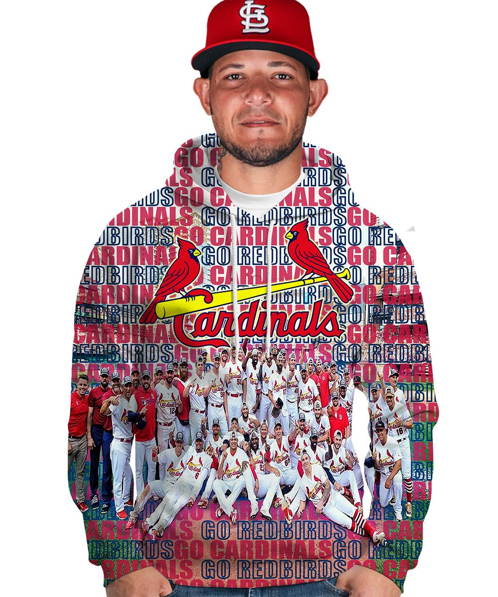 MLB st louis cardinals go redbirds 3d hoodie - maria