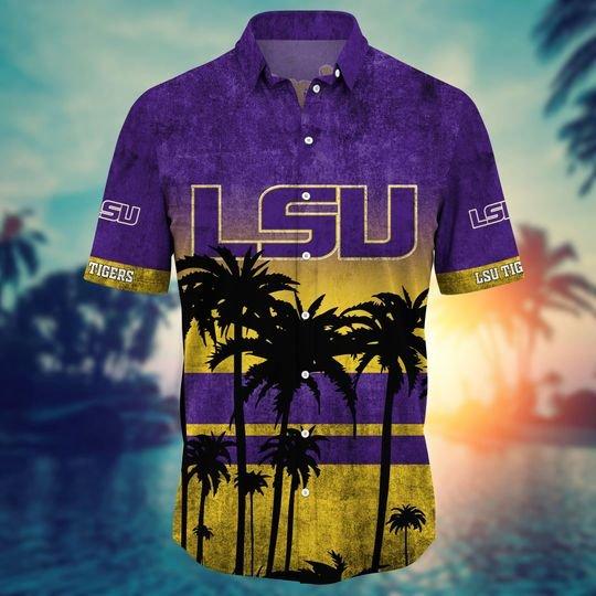 LSU Tigers Summer Hawaiian Shirt, short -BBS