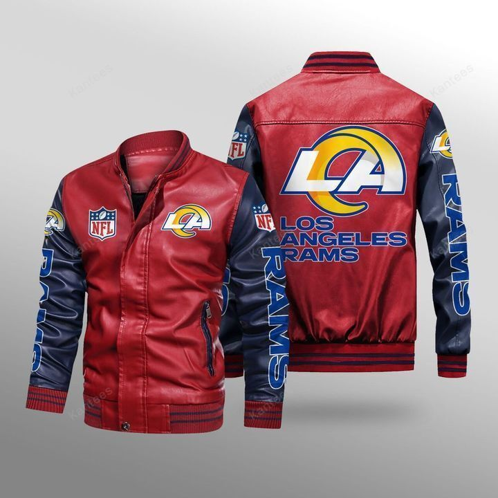 Los Angeles Rams Leather Bomber Jacket - LIMITED EDITION