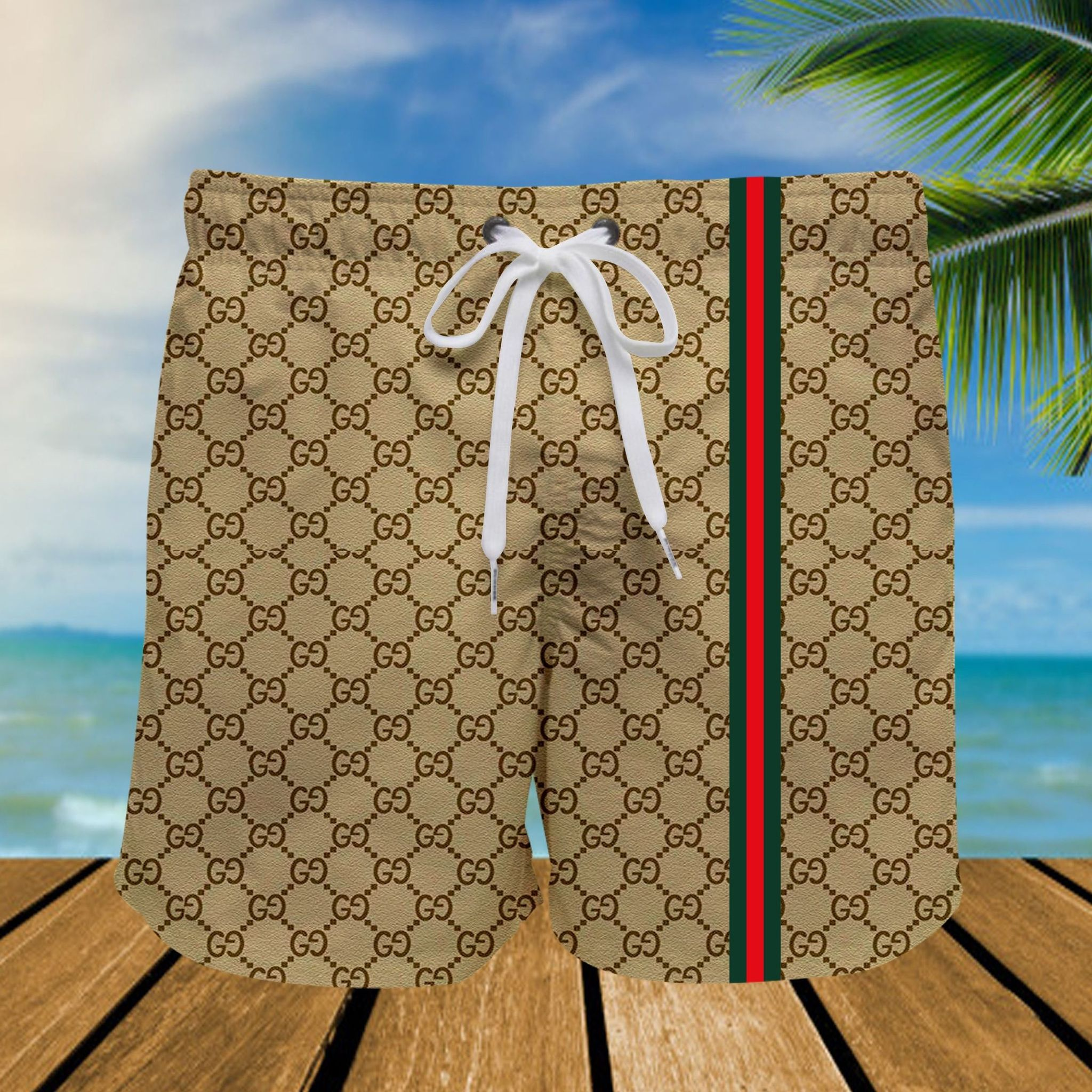 Louis Vuitton 3d all over printed Hawaiian shirt and short - LIMITED EDITION
