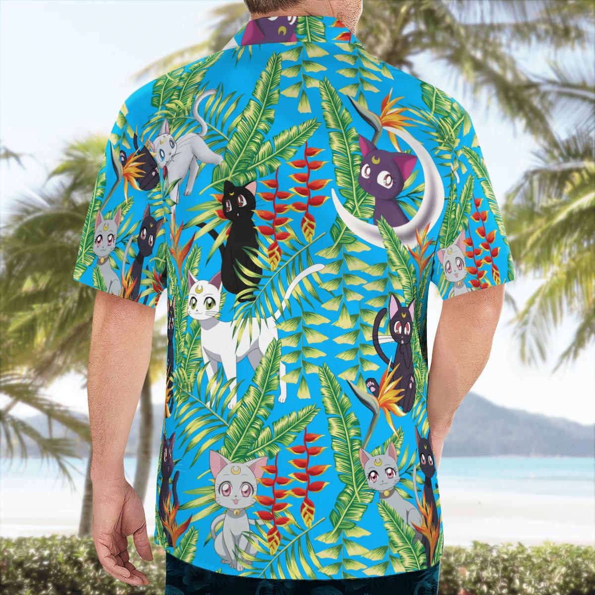 Luna and Artemis Sailor Moon Hawaiian shirt - LIMITED EDITION