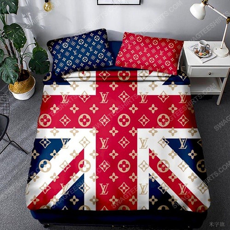 Lv and flag of the united kingdom full print duvet cover bedding set 1