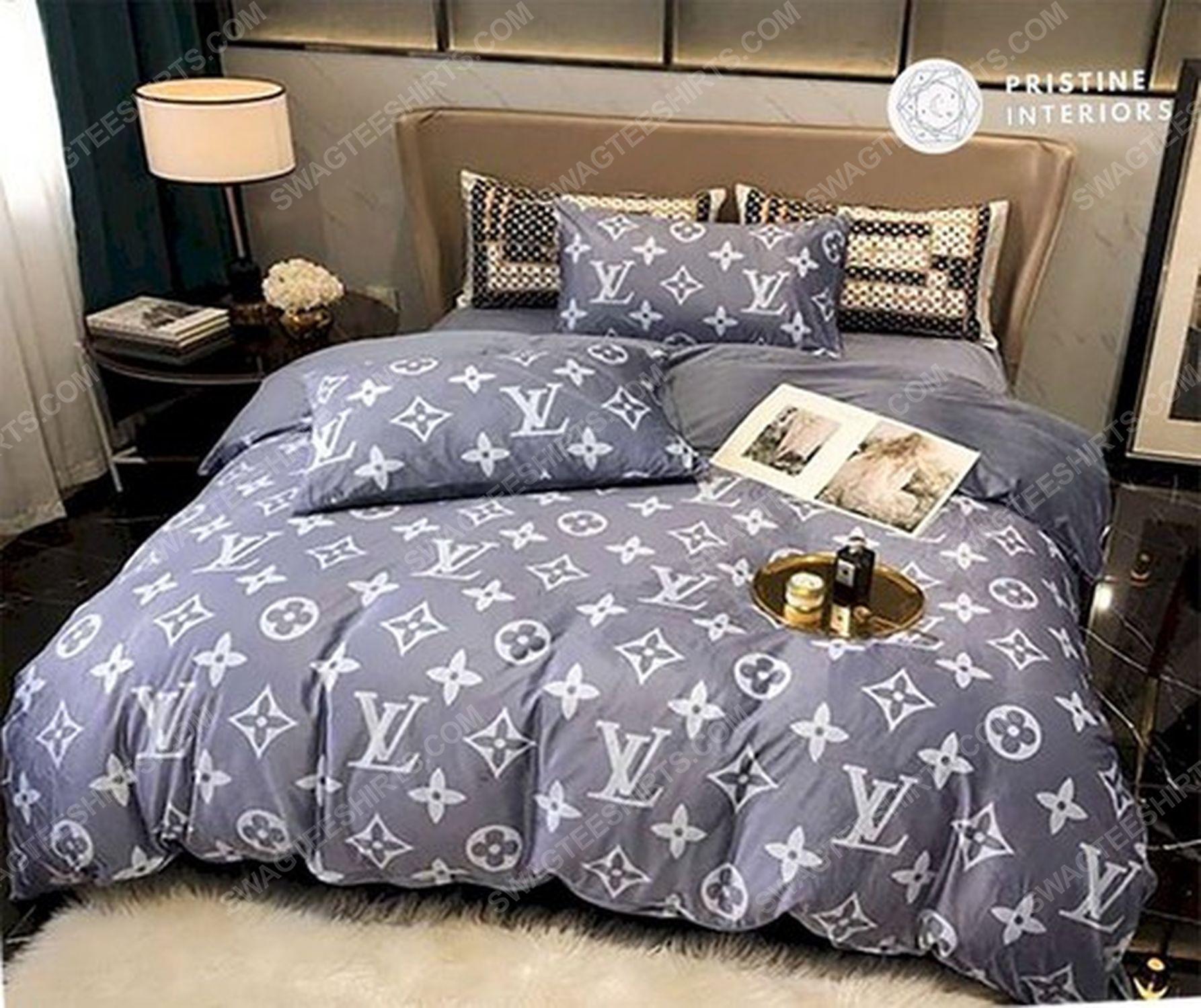 Lv monogram full print duvet cover bedding set 1