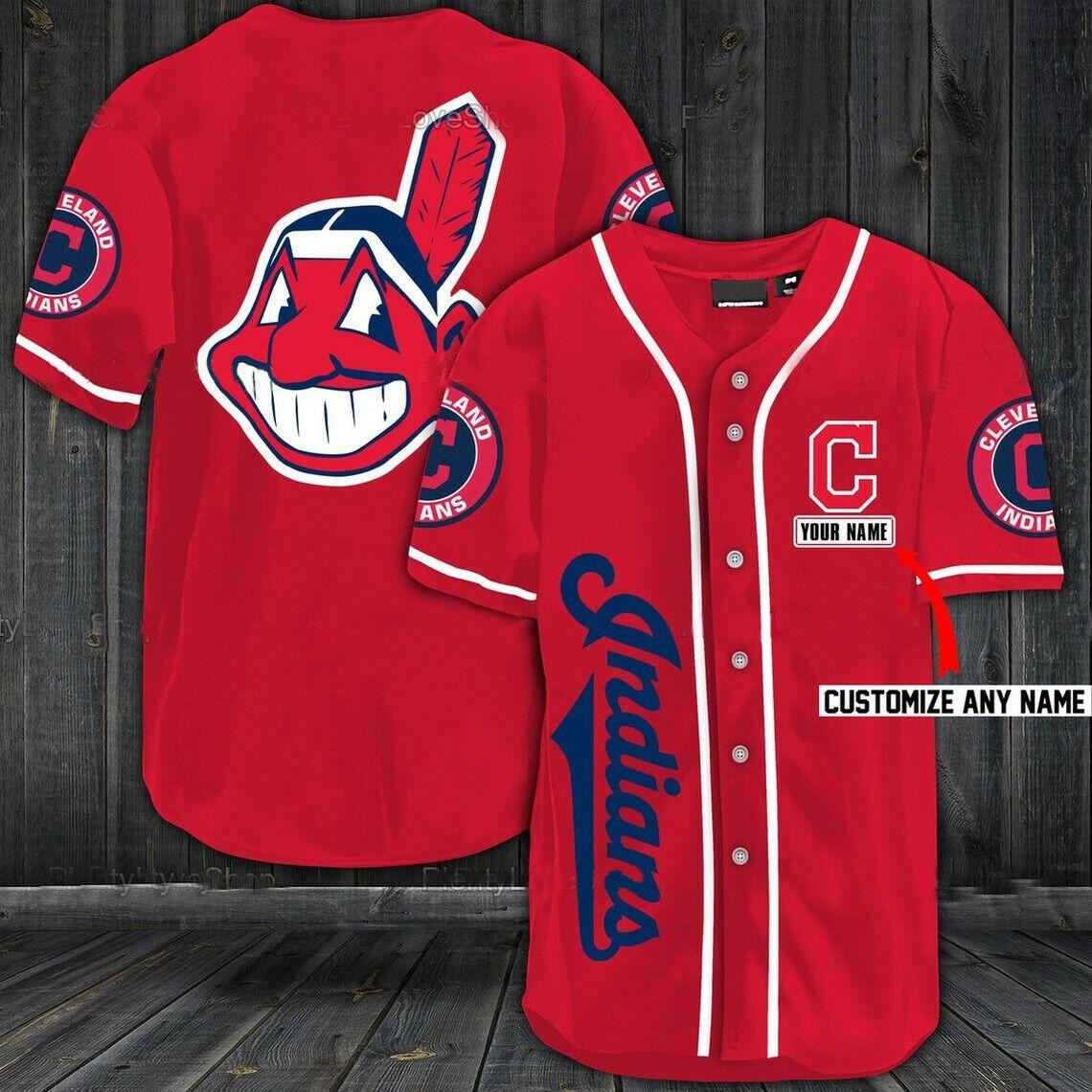 MLB Cleveland Indians custom name Baseball Jersey Shirt - LIMITED EDITION