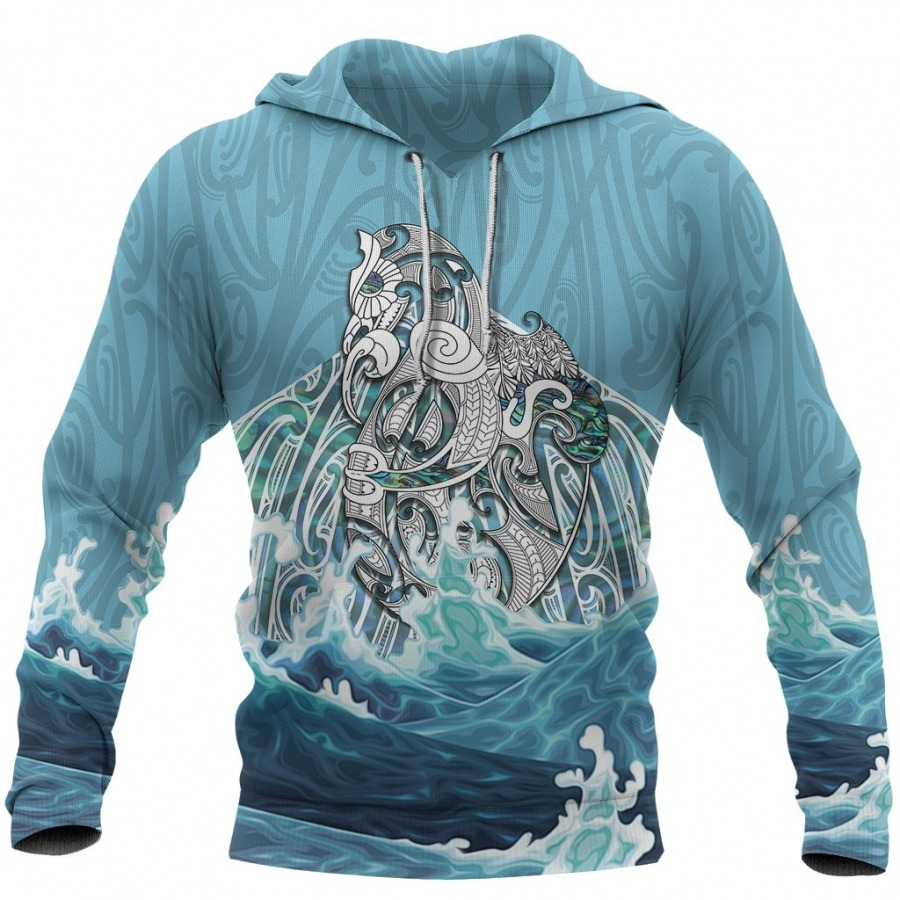 Maori Mania The Blue Sea 3D Hoodie - Hothot 090921