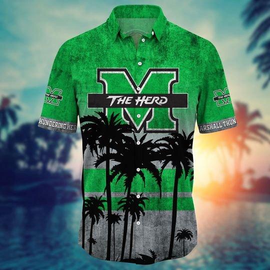 Marshall Thudering Hers Summer Hawaiian Shirt, short -BBS