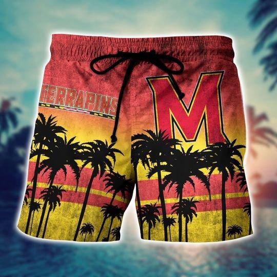 Maryland Terrapins Summer Hawaiian Shirt, short -BBS