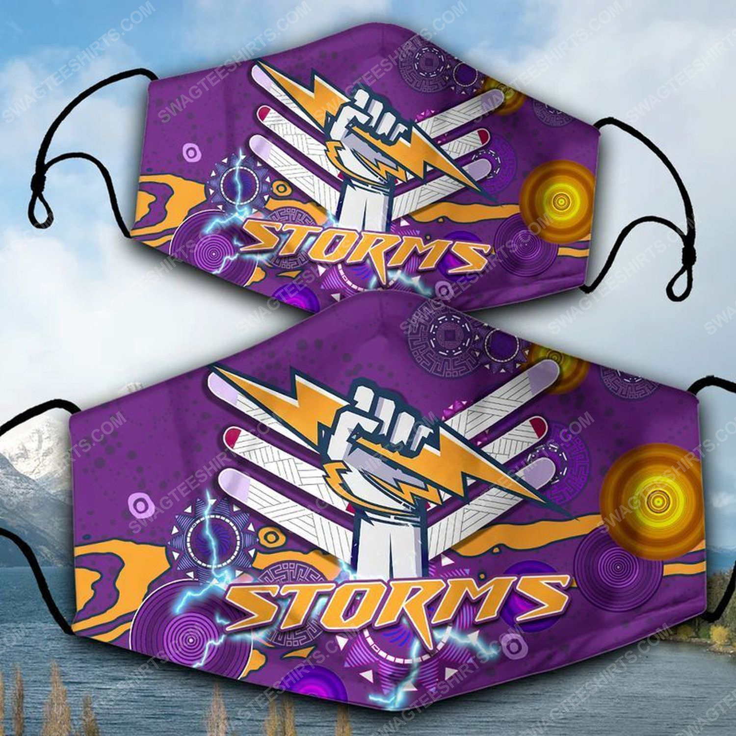 Melbourne storm football club face mask