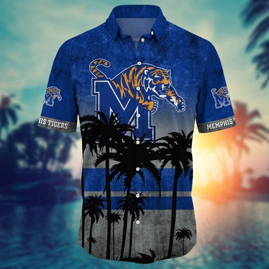 Memphis Tigers Summer Hawaiian Shirt, short -BBS