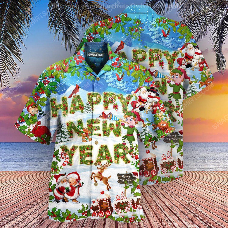 Merry christmas and happy new year full print hawaiian shirt 1 - Copy (2)