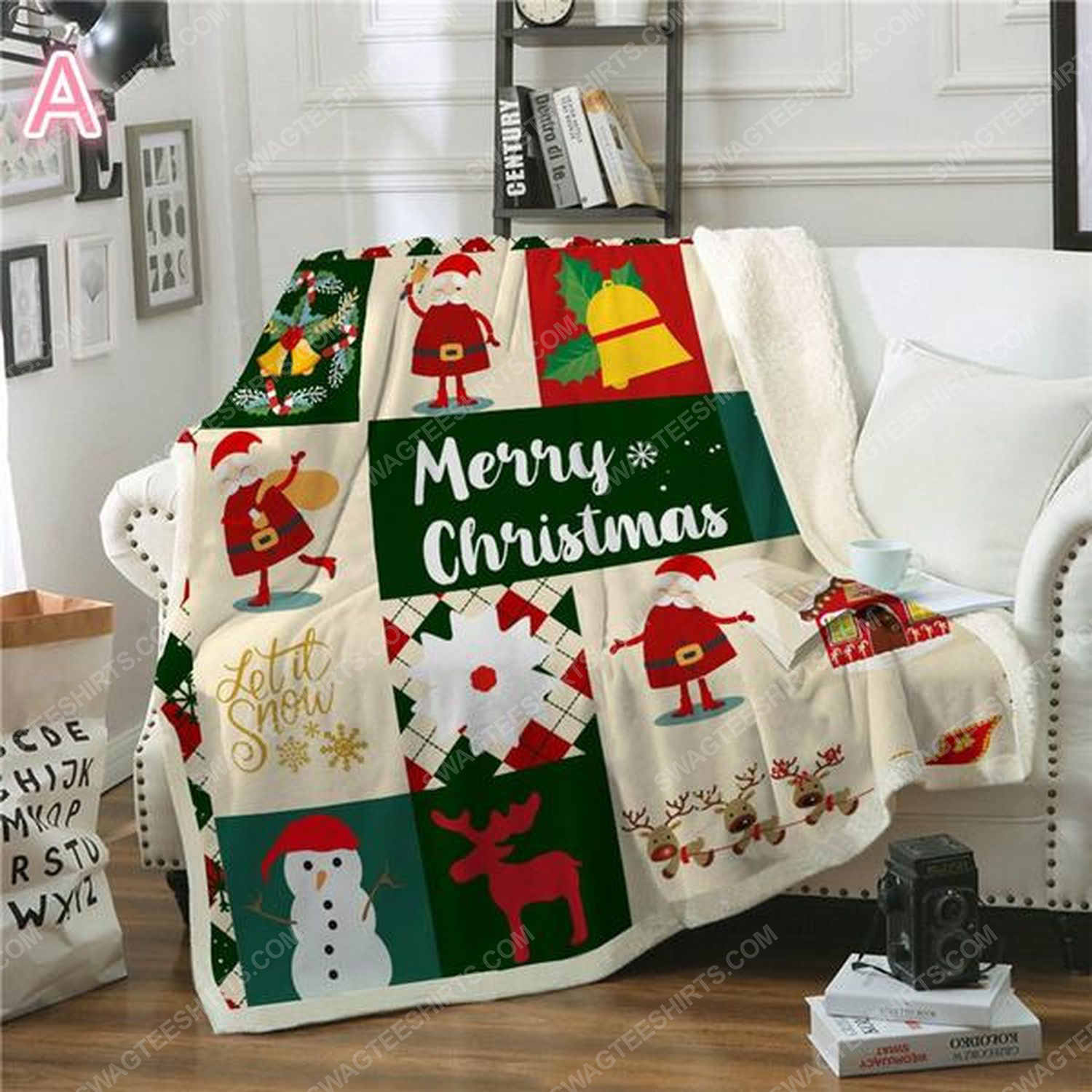 Merry christmas and let it snow blanket 2
