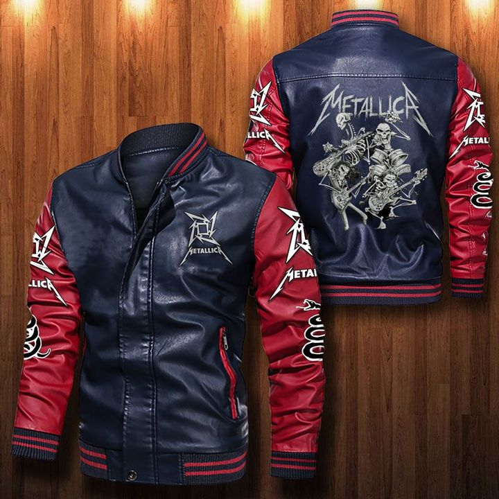 Metallica Simple Hard Rock Leather Bomber Jacket - LIMITED EDITION