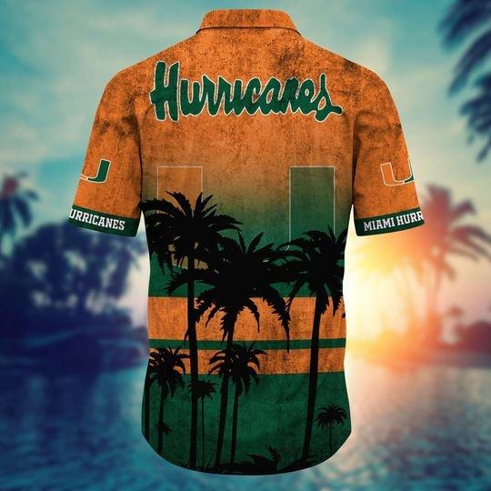 Miami Hurricanes Summer Hawaiian Shirt, short -BBS