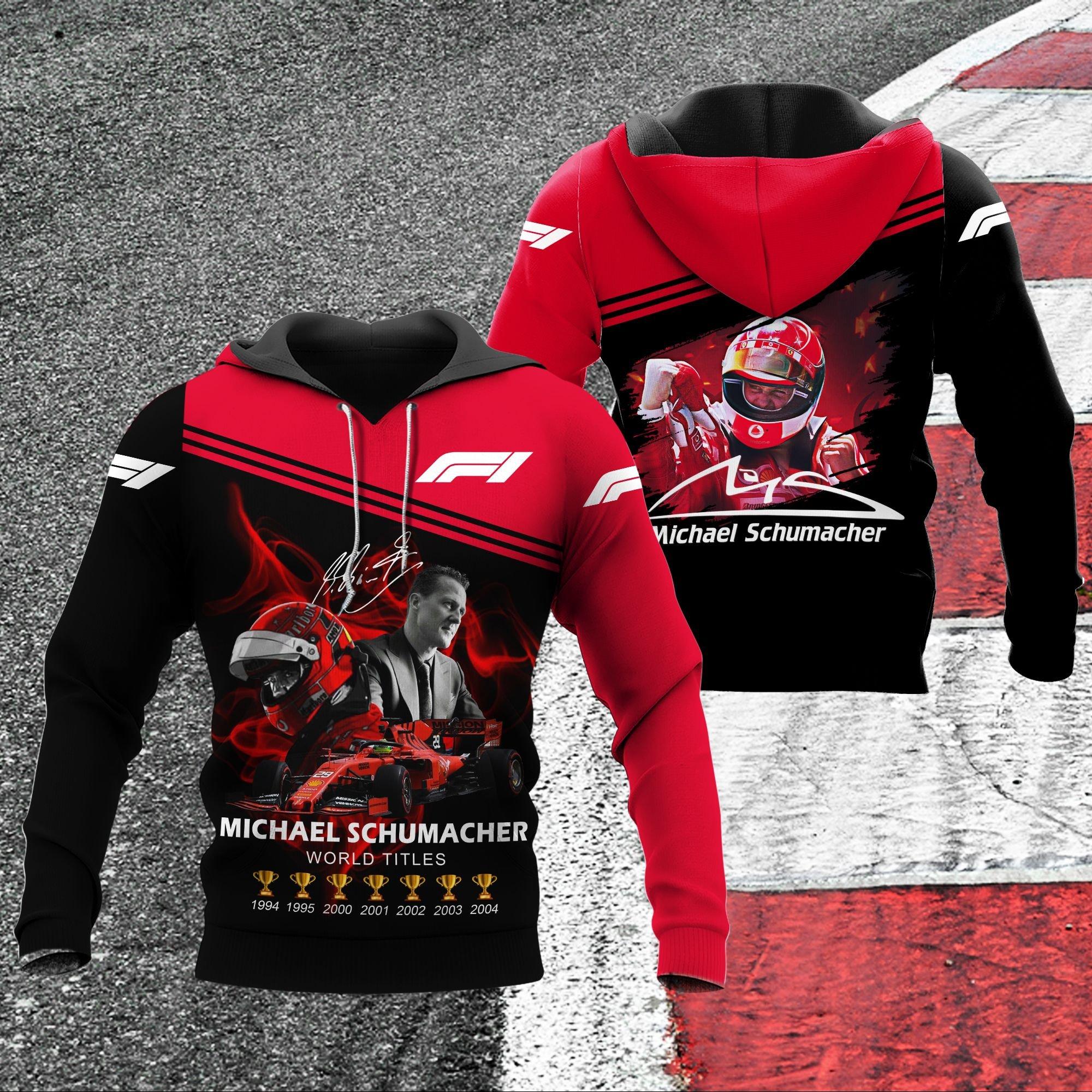 Michael Schumacher world titles 3d hoodie - LIMITED EDITION