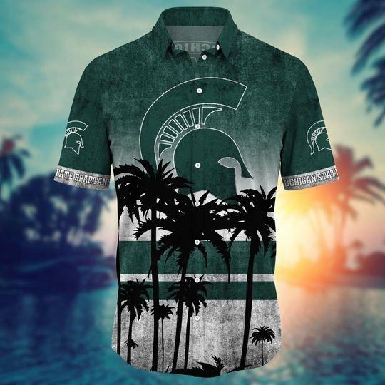Michigan State Spartans Summer Hawaiian Shirt, short -BBS
