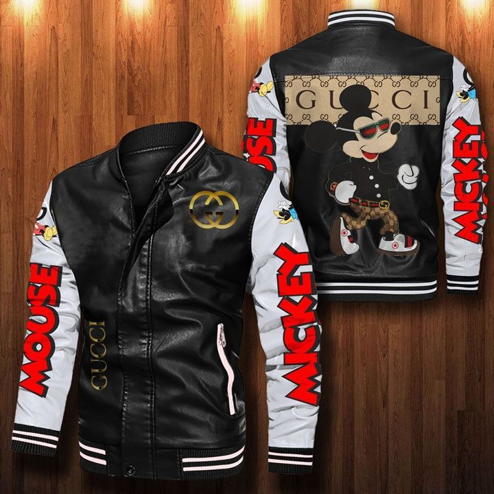 Mickey Gucci Leather Bomber Jacket - LIMITED EDITION
