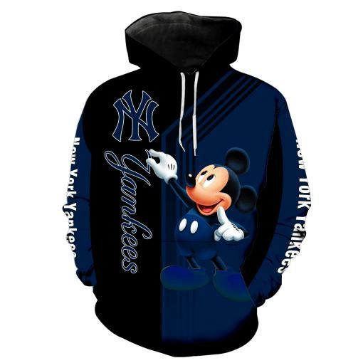 Mickey Mouse Mouse New york yankees 3d all over print hoodie1