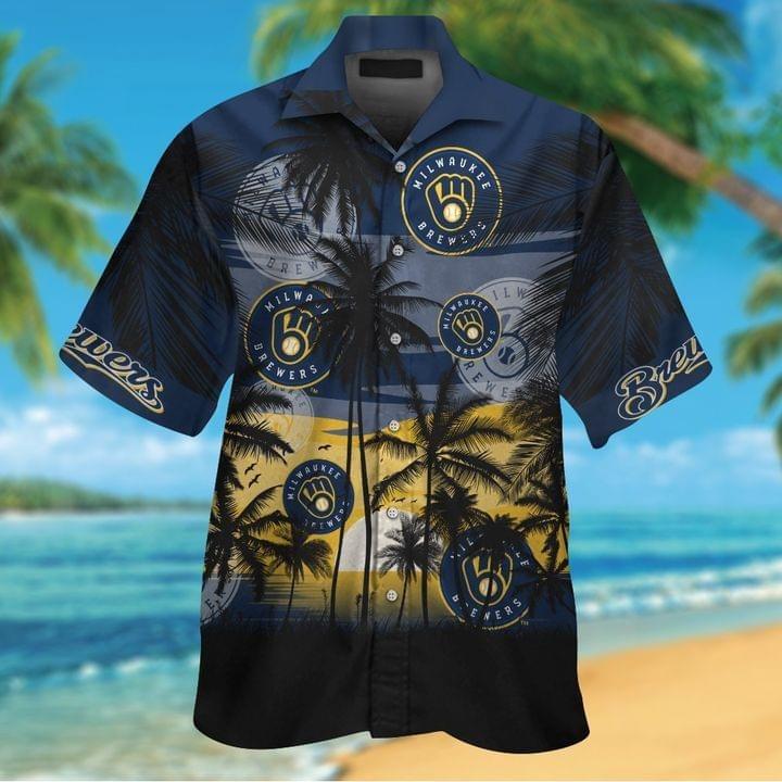 Milwaukee Brewers Aloha Hawaiian Shirt