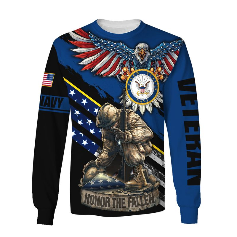 Navy veteran honor the fallen 3d sweatshirt