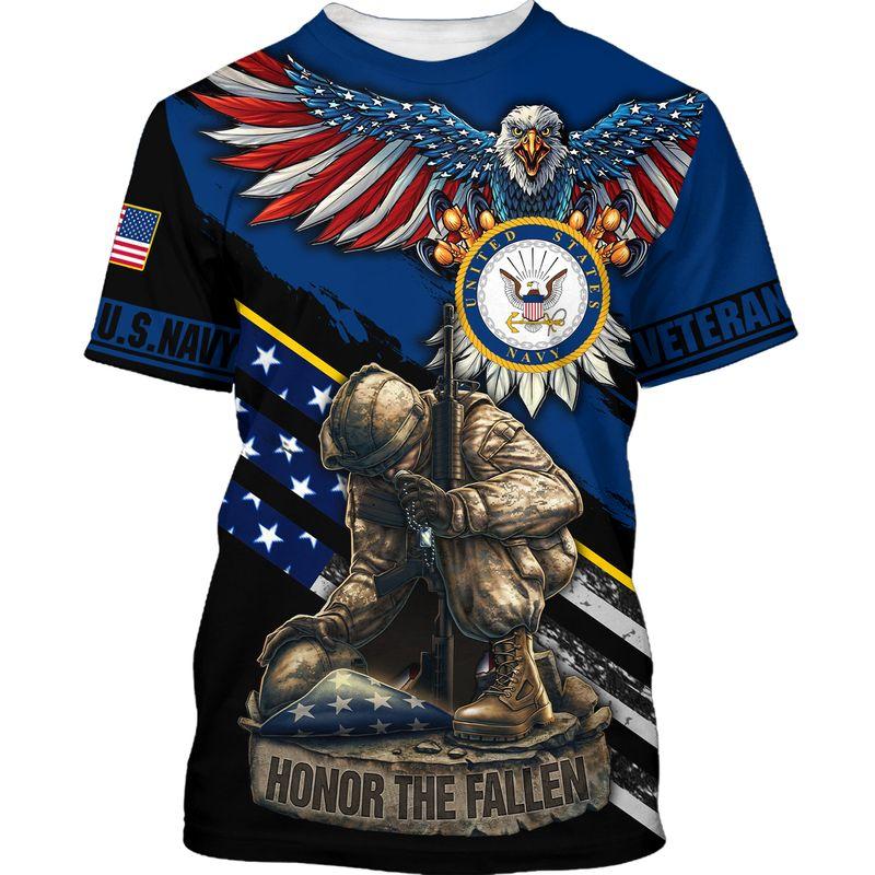Navy veteran honor the fallen 3d t-shirt